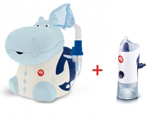 Inhalator PiC Solution Mr Hippo + Irygator do nosa Rino Shower